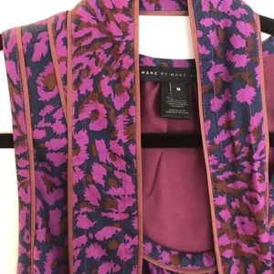 Mark Jacobs purple leopard dress size M